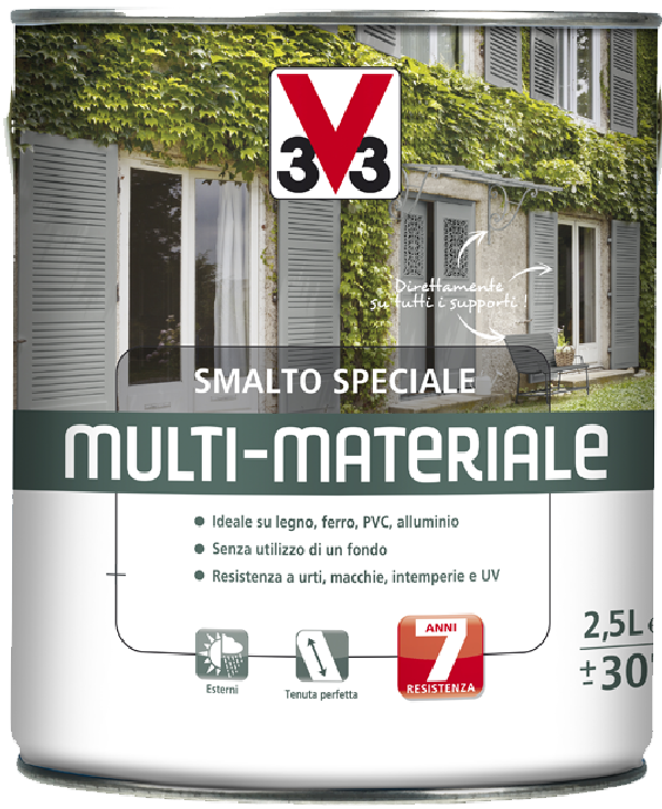 Smalto per esterni multi materiale