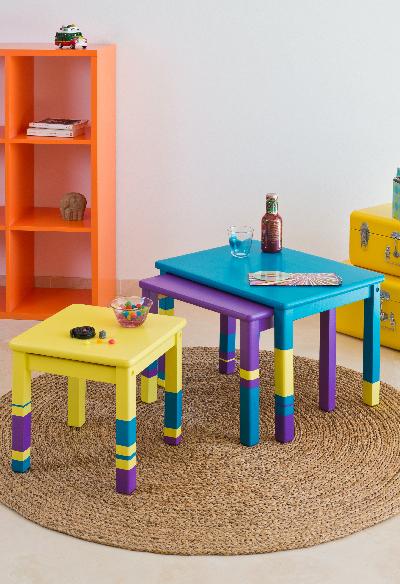 tavolini in legno dipinti